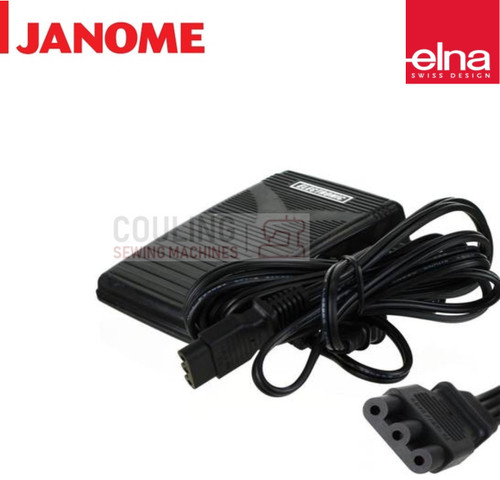 Elna Foot Control Basic E Type 3 Pin SewFun 1000 1010 2004 045501027)