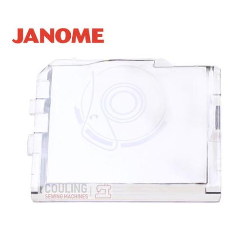 Janome Slide Plate / Bobbin Cover - 825018013  Fits:   7500, 7000, 5700, 3023, 3015, 3018, 2536, MS2522, MS22, 3123, 659, 5024, 5018, XC33, 1220, 660, 9500, 9700, 300E, 200E