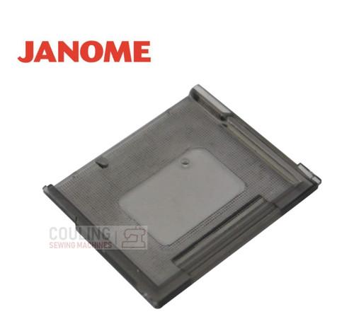 Janome Slide Plate / Bobbin Cover - 822004006  Fits:    2014, 2018, 2022, 2122, MC5500, 6000, DX502, Combi, Jem