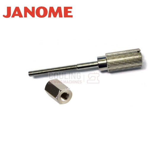 Janome Hoop Screw and Nut Set Standard / Frame Tension Screw    Fits most:   200e, 300e, 350e, 9500, 9700, 10000, 10001, 11000, 11000SE