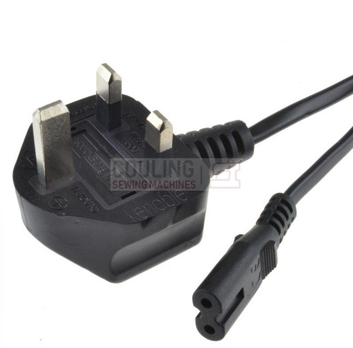 Singer Sewing Machine Mains Power Cable UK Plug Lead 2m FIG-8