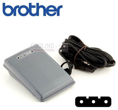Brother Foot Control Pedal & Lead Standard 3 Pin common foot control