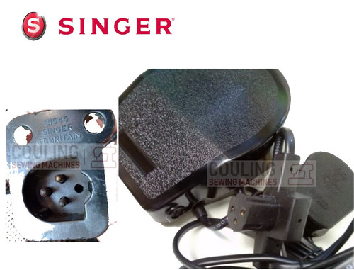 Singer Foot Control Pedal & Lead - 3 Pin D TEAT 337 347 348 477