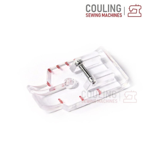 """Sewing Machine Foot - 1/4"""" Clear Seam Quilting Foot NO Guide (Clip Snap on)"""