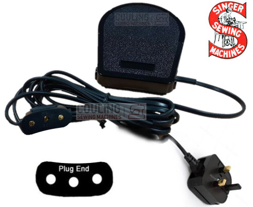 Singer Foot Control Pedal & Lead - BAK 3 Pin 66K 99K 201K 306 401 411