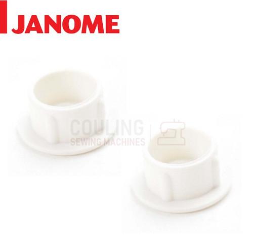 Janome Sewing Machines - Plastic Screw Cap Lip Cover x 2 - 653006101