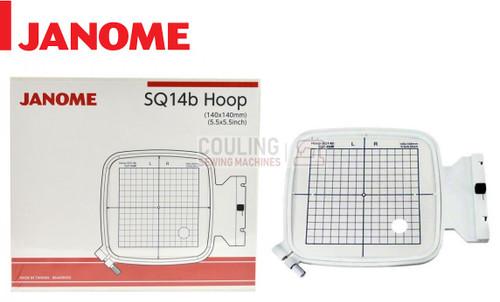 Janome Embroidery Sqaure Hoop SQ14B 140x140mm MC500 MC400 + Elna eXpressive 830 864406002