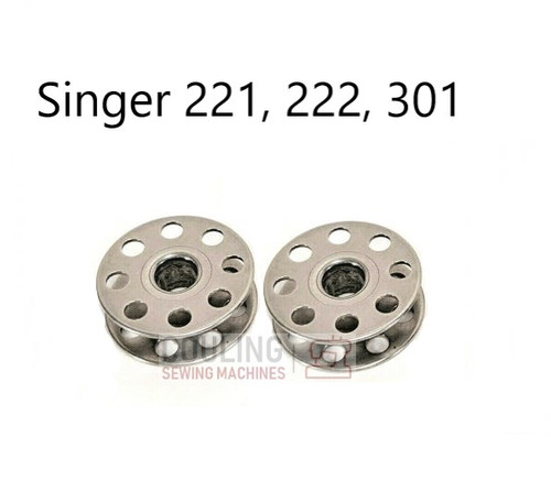 Singer featherweight 221, 222K, Bobbins - Pack of 2