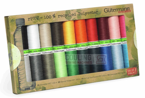 Gutermann Sew All 100m x 20 Basic Box set 100% Recycled Polyester rPET 731139