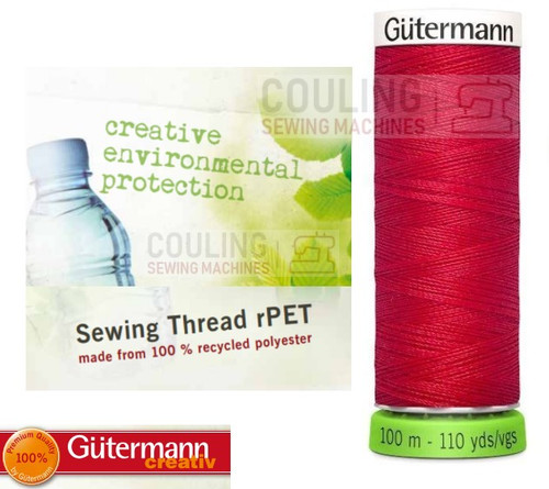 Gutermann Sew All 100% Recycled Polyester rPET 100m - RED 156