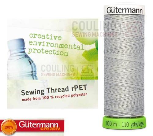 Gutermann Sew All 100% Recycled Polyester rPET 100m - GREY 38