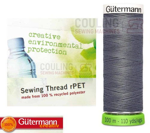 Gutermann Sew All 100% Recycled Polyester rPET 100m - GREY 701