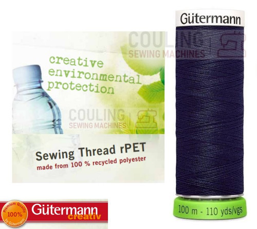 Gutermann Sew All 100% Recycled Polyester rPET 100m - DARK NAVY 339