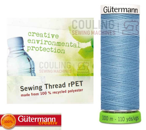 Gutermann Sew All 100% Recycled Polyester rPET 100m - SKY BLUE 143
