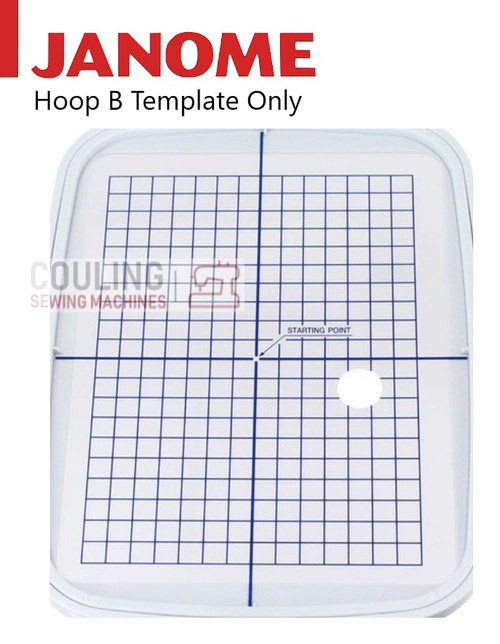 Janome Hoop TEMPLATE For Embroidery Hoop Large B - 140x200mm 850802401