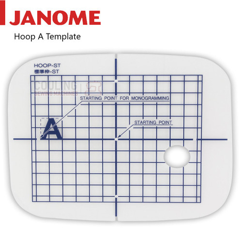 Janome Hoop TEMPLATE For Embroidery Hoop A - 110x110mm 852807103