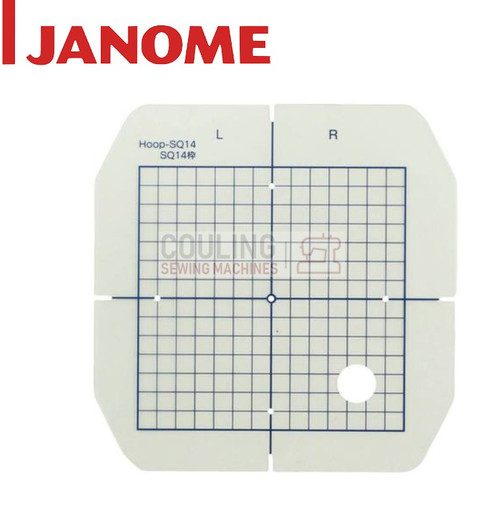 Janome Hoop TEMPLATE For Embroidery Hoop Square SQ14 - 140x140mm 859823302