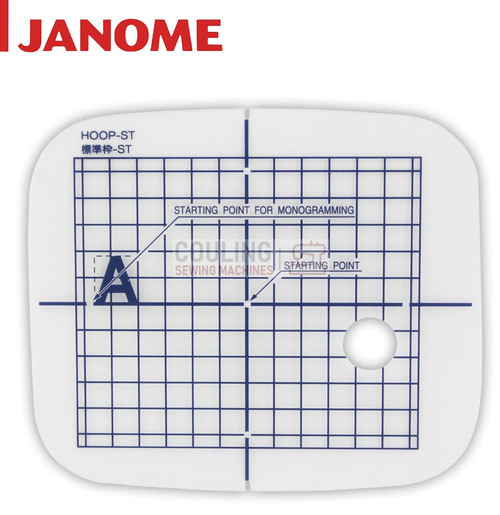 Janome Hoop TEMPLATE For Embroidery Hoop Standard ST - 126x110mm MC11000 MC11000SE 860802402