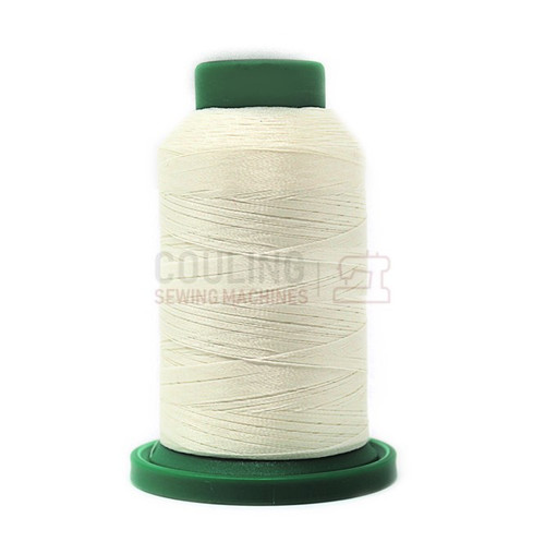 Isacord Polyester Embroidery Machine Thread 1000m - Eggshell off white 0101