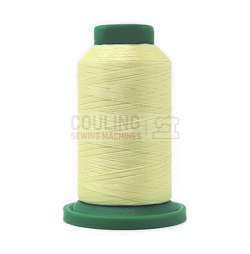 Isacord Polyester Embroidery Machine Thread 1000m - Lemon Frost Yellow 0250
