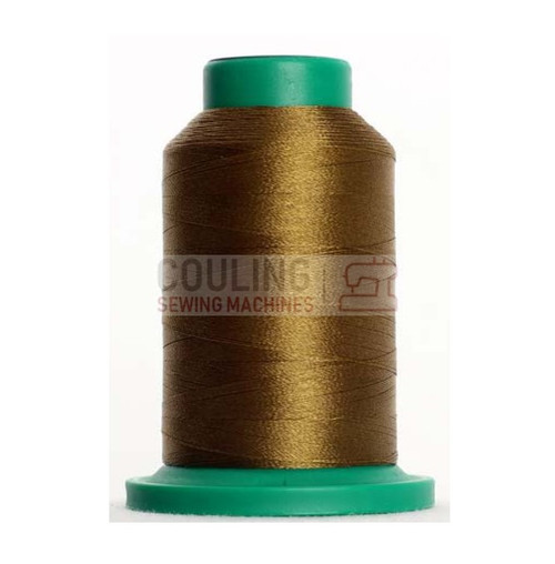 Isacord Polyester Embroidery Machine Thread 1000m Moss Green Brown 0345