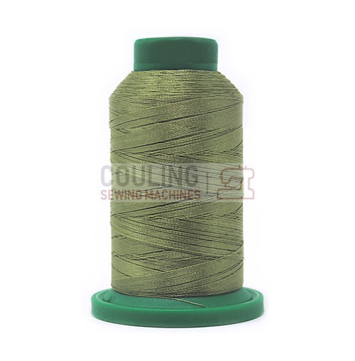 Isacord Polyester Embroidery Machine Thread 1000m - Army Drab Green 0453