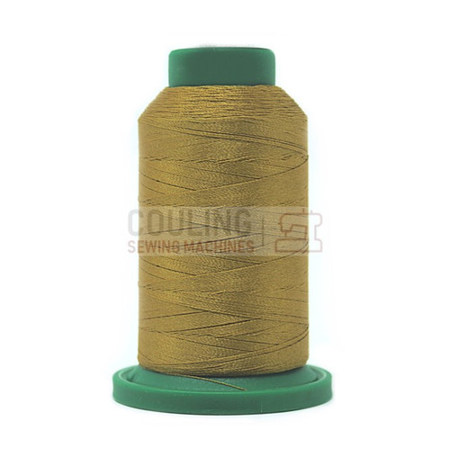 Isacord Polyester Embroidery Machine Thread 1000m - Ochre Green 0542
