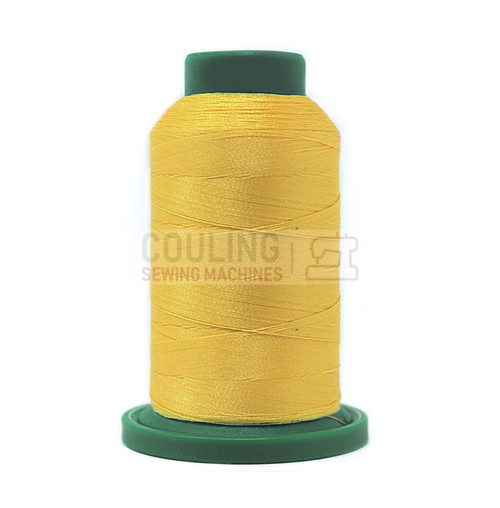 Isacord Polyester Embroidery Machine Thread 1000m - Buttercup Yellow 0630