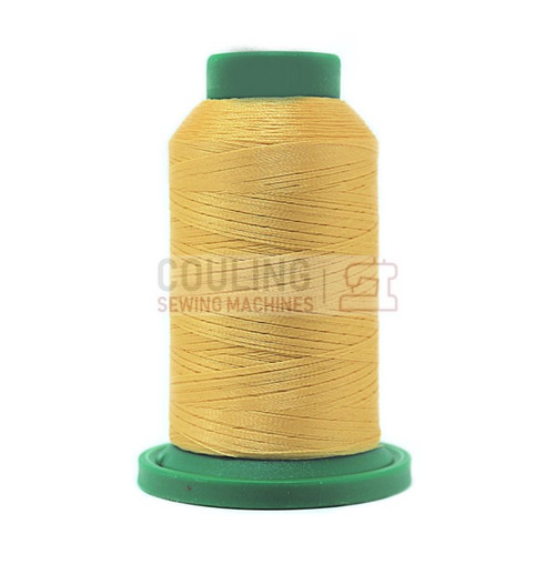 Isacord Polyester Embroidery Machine Thread 1000m - Parchment Yellow 0640