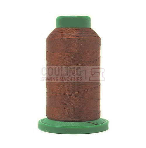 Isacord Polyester Embroidery Machine Thread 1000m - Rust Brown 1342