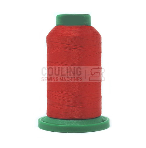 Isacord Polyester Embroidery Machine Thread 1000m Poppy Red 1703