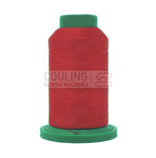 Isacord Polyester Embroidery Machine Thread 1000m - Strawberry Red 1805