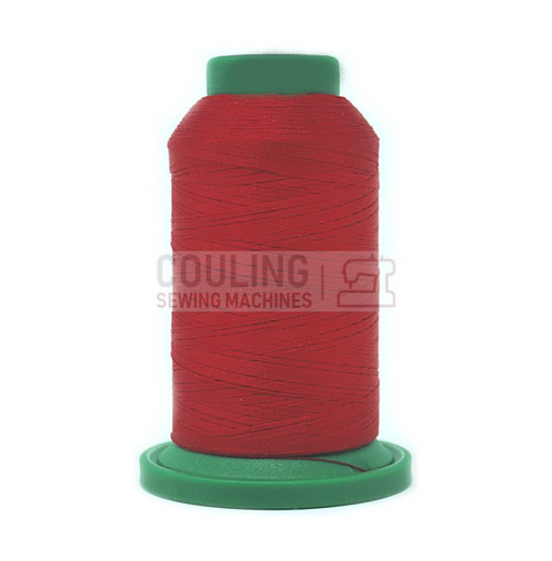 Isacord Polyester Embroidery Machine Thread 1000m - Poinsettia Red 1902