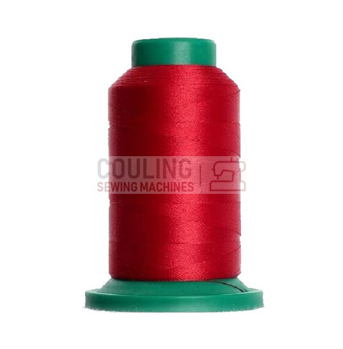 Isacord Polyester Embroidery Machine Thread 1000m - Foliage Rose Red 1911