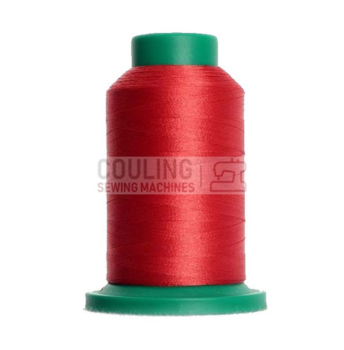 Isacord Polyester Embroidery Machine Thread 1000m - Blossom Red Pink 1921