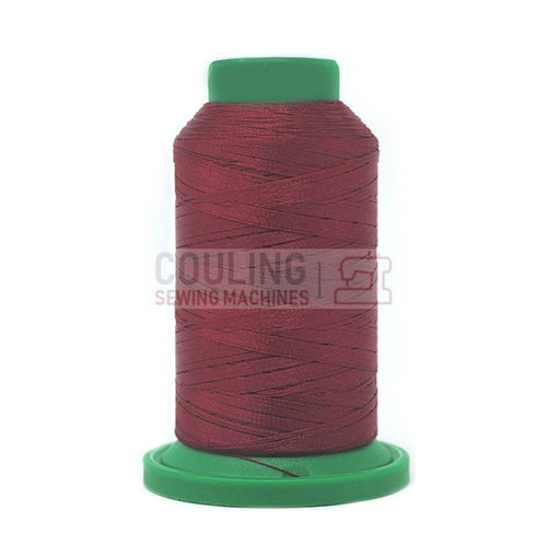 Isacord Polyester Embroidery Machine Thread 1000m - Burgundy 2222