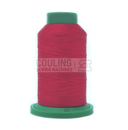 Isacord Polyester Embroidery Machine Thread 1000m - Bright Ruby Red 2300