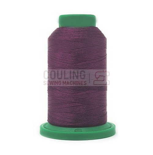 Isacord Polyester Embroidery Machine Thread 1000m - Dark Current Purple 2711