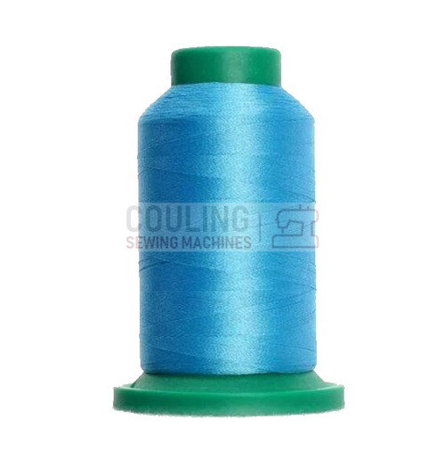 Isacord Polyester Embroidery Machine Thread 1000m - Crystal Blue 3910