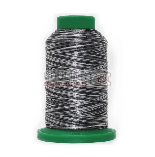 Isacord Polyester Embroidery Machine Thread 1000m - Multi Colour Salt & Pepper 9005