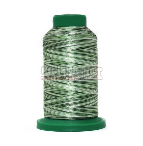 Isacord Polyester Embroidery Machine Thread 1000m - Multi Colour Green Grass 9805