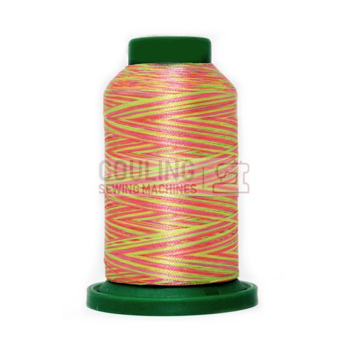 Isacord Polyester Embroidery Machine Thread 1000m - Multi Colour Neon Lights 9914