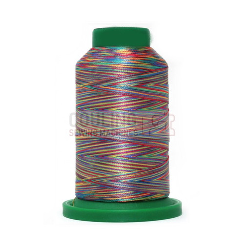 Isacord Polyester Embroidery Machine Thread 1000m - Multi Colour Rainbow 9916