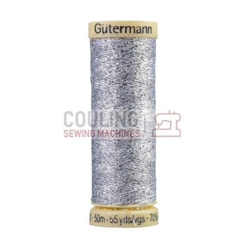 Gutermann Metallic Effect Thread 50m - Silver 41