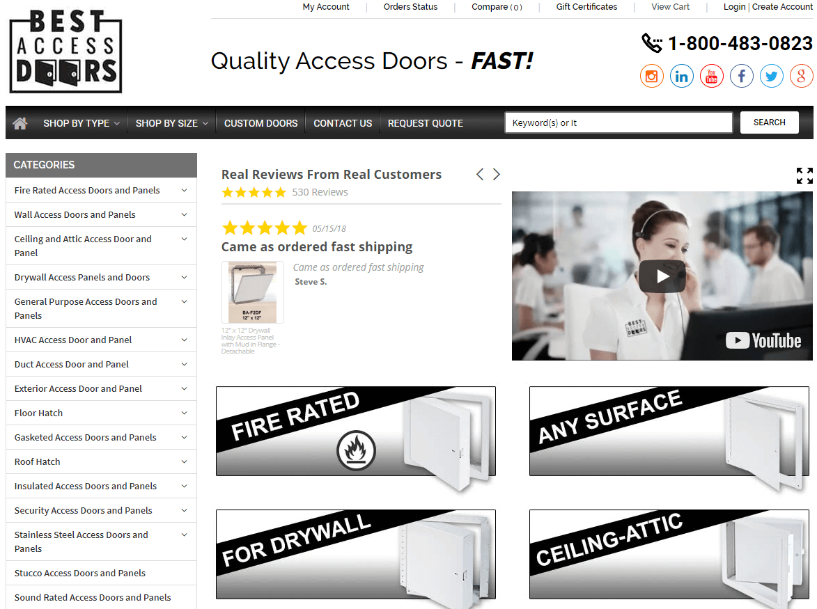 Best Access Doors - Offering Access Panel Selections