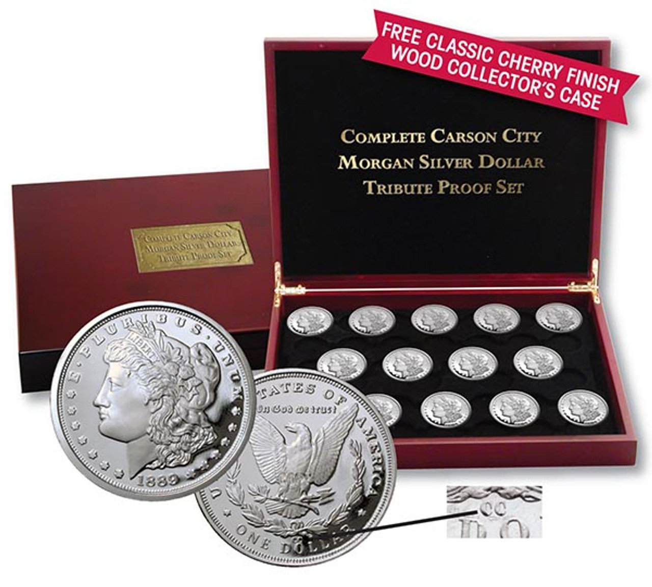 """The Complete """"Carson City"""" Morgan Silver Dollar Tribute Proof Collection"""