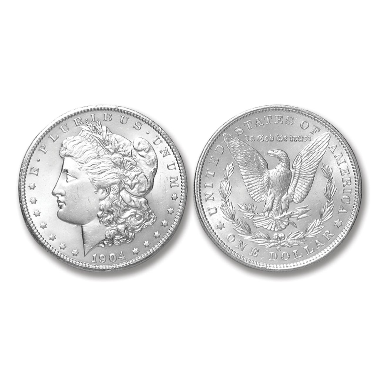 1904-O Morgan Silver Dollar - Brilliant Uncirculated Condition