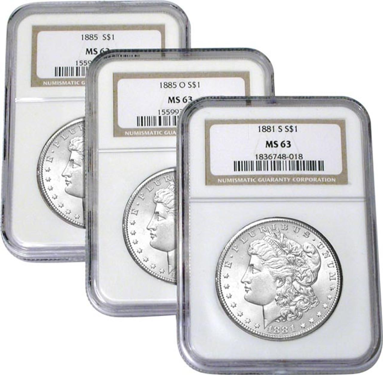MS63 Certified Morgan Silver Dollar