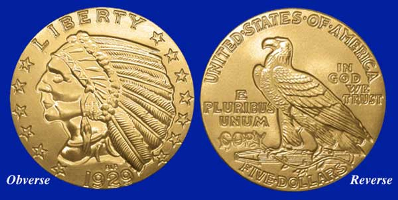 1929 Indian Tribute Proof Clad in 24 KT Gold