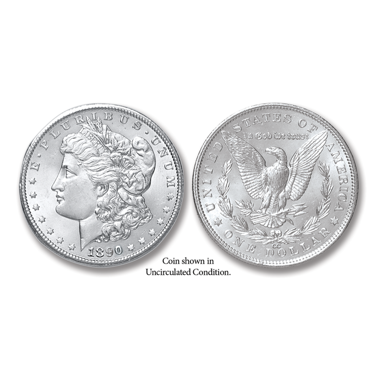 Very Rare 1890 Morgan Silver Dollar